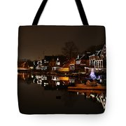 Boathouse Row All Lit Up Tote Bag by Bill Cannon