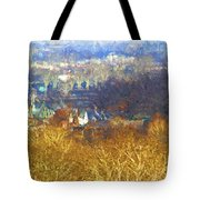 Boathouse Row Impasto Tote Bag