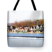 Boathouse Row In Autumn Tote Bag