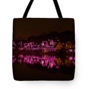 Boathouse Row In Pink Tote Bag