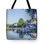 Boathouse Row In September Tote Bag