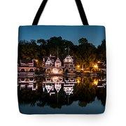 Boathouse Row Panorama Tote Bag
