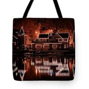 Boathouse Row Reflection Tote Bag