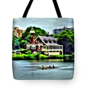 Boathouse Rowers On The Row Tote Bag