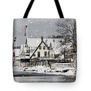 Boathouse Snow Tote Bag