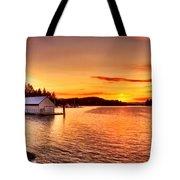 Boathouse Sunset On The Sunshine Coast Tote Bag