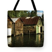 Boathouses On The River Tote Bag