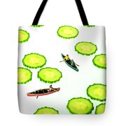 Boating Among Cucumber Slices Miniature Art Tote Bag by Paul Ge