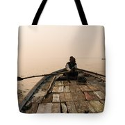 Boating At Sangam Tote Bag