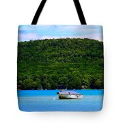 Boating At Sleeping Bear Dunes Lake Michigan Tote Bag