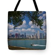 Boating In Chicago  Tote Bag