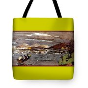Boating In River Tote Bag