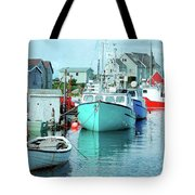 Boating In The Village Tote Bag