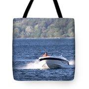 Boating On Grand Traverse Bay Tote Bag