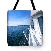 Boating On Lake Tote Bag