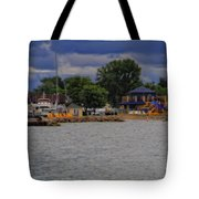 Boating On Lake Erie Tote Bag