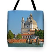 Boating Past Basilica Di Santa Maria Della Salute  Tote Bag