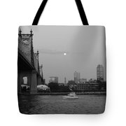 Boating Under The Bridge Tote Bag