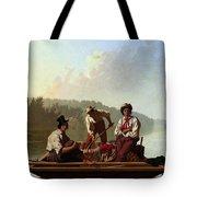 Boatmen On The Missouri Tote Bag