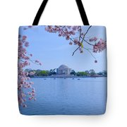 Boats Across The Basin Of Blossoms Tote Bag