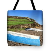Boats Along Branscombe Beach Tote Bag
