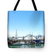 Boats And Bridge Tote Bag