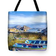 Boats And Floating Islands Tote Bag