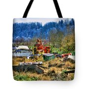 Boats And Heavy Equipment Tote Bag