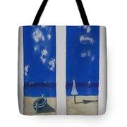 Boats And Umbrellas Tote Bag