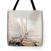 Boats At Quayside Lake Geneva Tote Bag