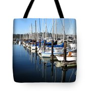 Boats At Rest. Sausalito. California. Tote Bag