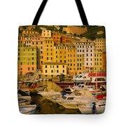 Boats At The Harbor, Camogli, Liguria Tote Bag