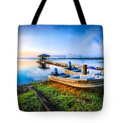 Boats At The Lake Tote Bag