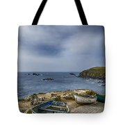 Boats At The Lizard Tote Bag