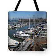 Boats At The San Francisco Pier 39 Docks 5d26004 Tote Bag