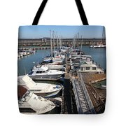 Boats At The San Francisco Pier 39 Docks 5d26005 Tote Bag