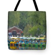 Boats In A Park, Beijing Tote Bag