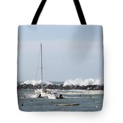 Boats In A Port Tote Bag