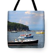 Boats In Bar Harbor Tote Bag