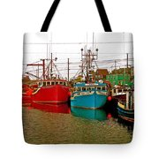 Boats In Branch Marina-nl Tote Bag