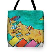 Boats In Front Of The Buildings Ix Tote Bag