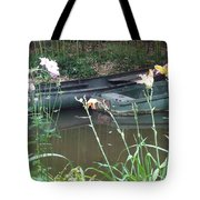 Boats In Giverny Tote Bag