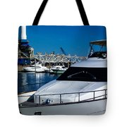 Boats In Port 2 Tote Bag