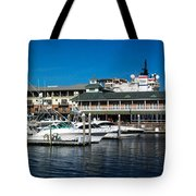 Boats In Port 3 Tote Bag