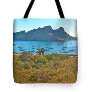Boats In San Carlos Harbor-sonora-mexico Tote Bag