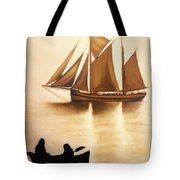 Boats In Sun Light Tote Bag