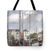 Boats In The Harbor 1905 Tote Bag