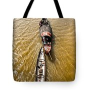 Boats In The Mekong River - Vietnam Tote Bag