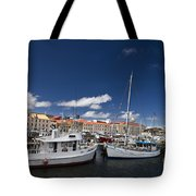 Boats Line Victoria Dock Hobar Tote Bag