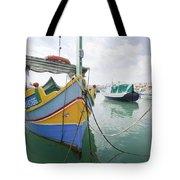 Boats Of Malta Tote Bag